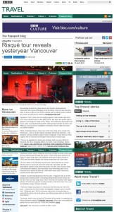 Forbidden Vancouver in BBC article