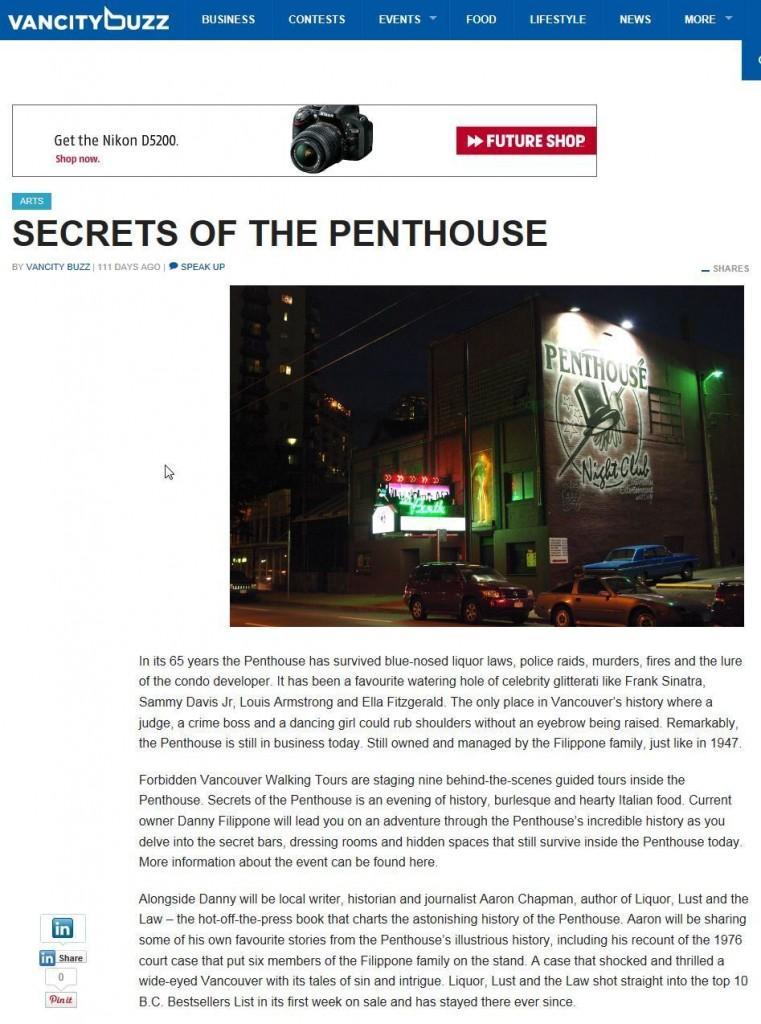 Secrets of the Penthouse Strip Club Vancouver BC