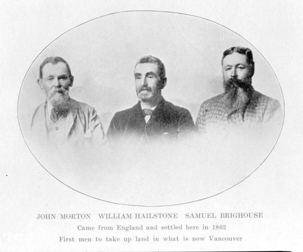John Morton, William Hailstone, and Samuel Brighouse - BC Archives
