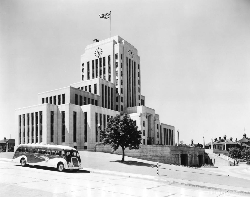 Vancouver City Hall, 1937, via Vancouver Archives.