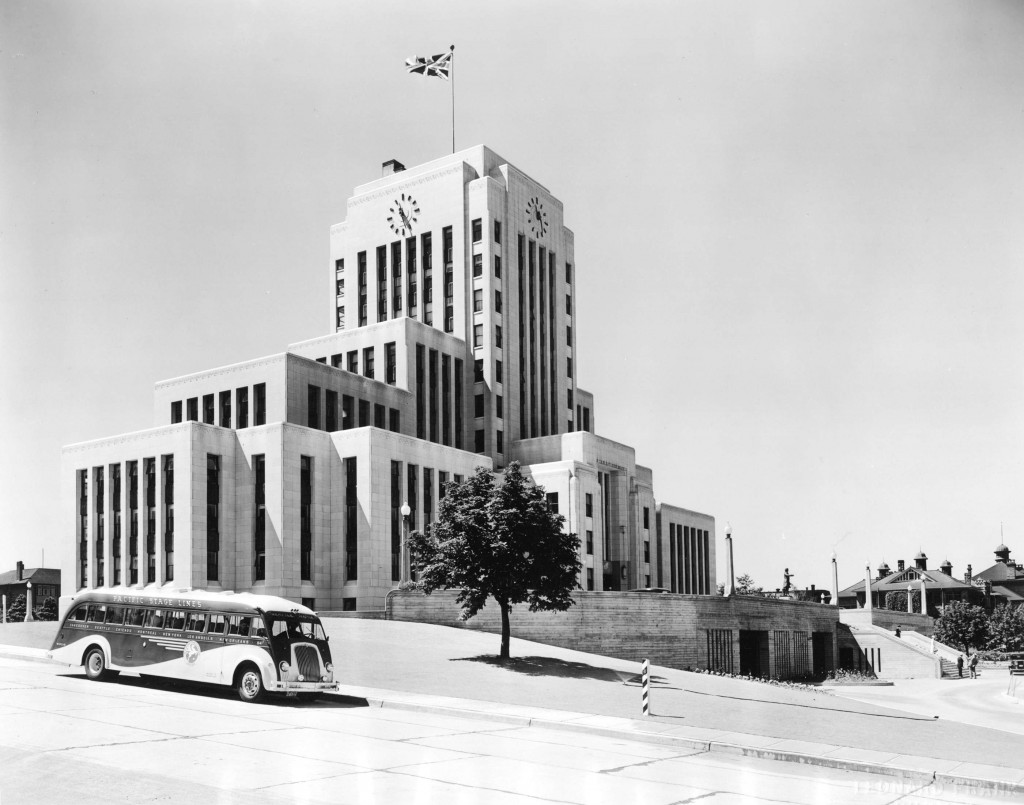 Vancouver City Hall, 1937, via Vancouver Archives.