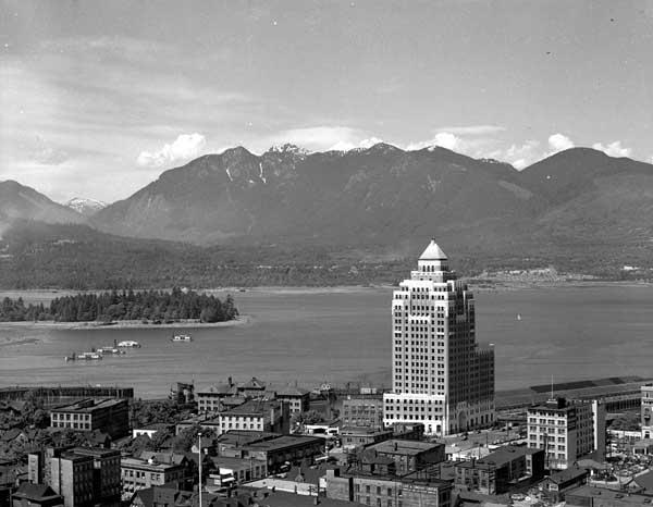 Marine Building, via Vancouver Archives.