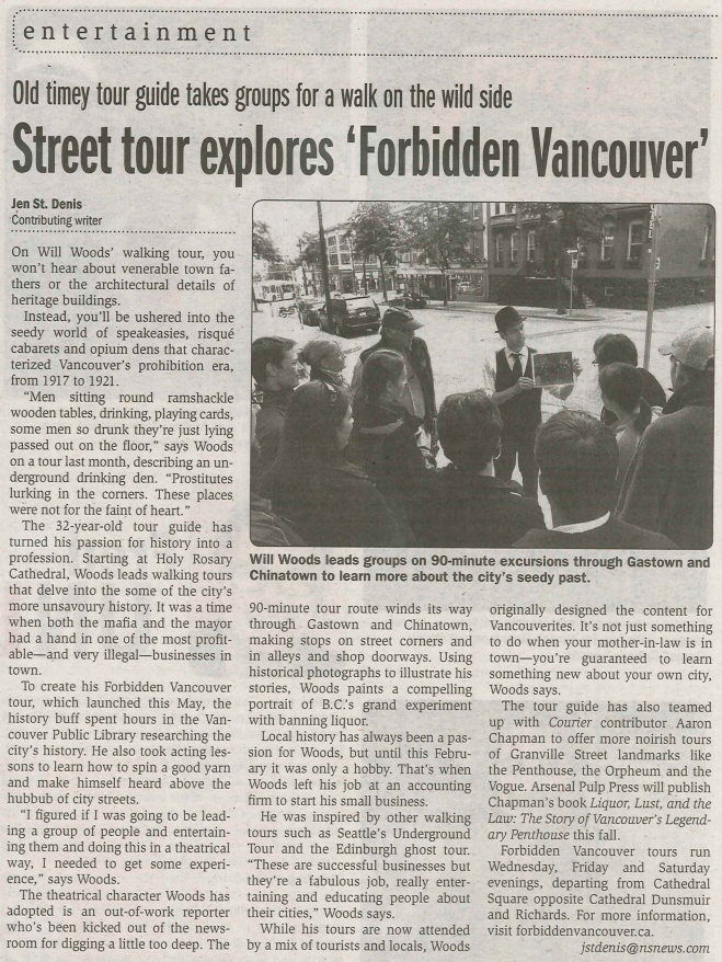 Prohibition City in the Vancouver Courier