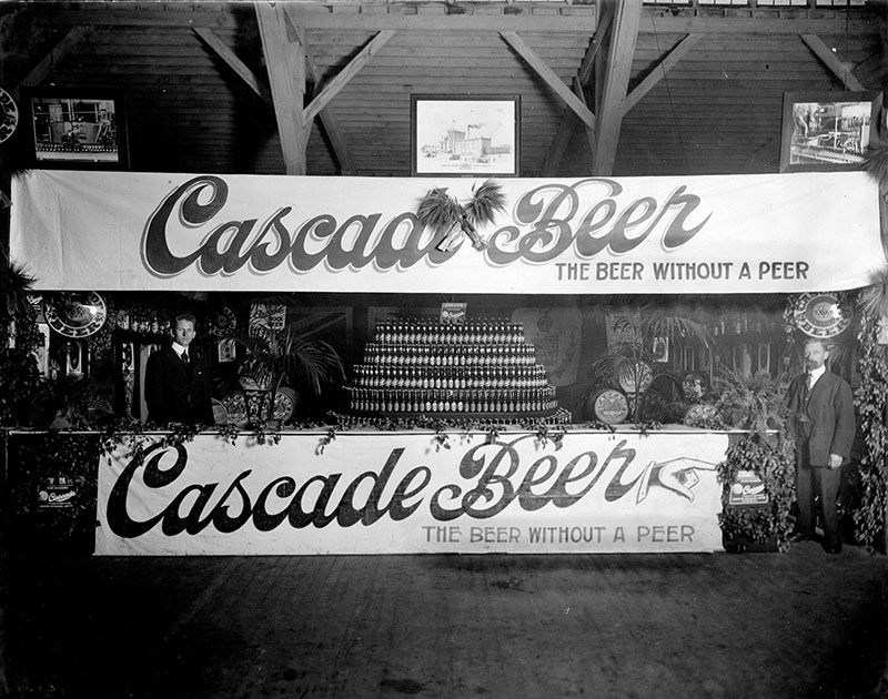 Cascade Beer display at the PNE, 1919. City of Vancouver Archives #180-0036