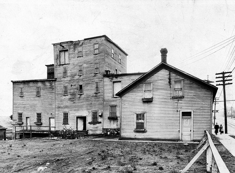 Columbia Brewery on Powell Street at Wall and Victoria Drive, 1909. City of Vancouver Archives #Bu P728