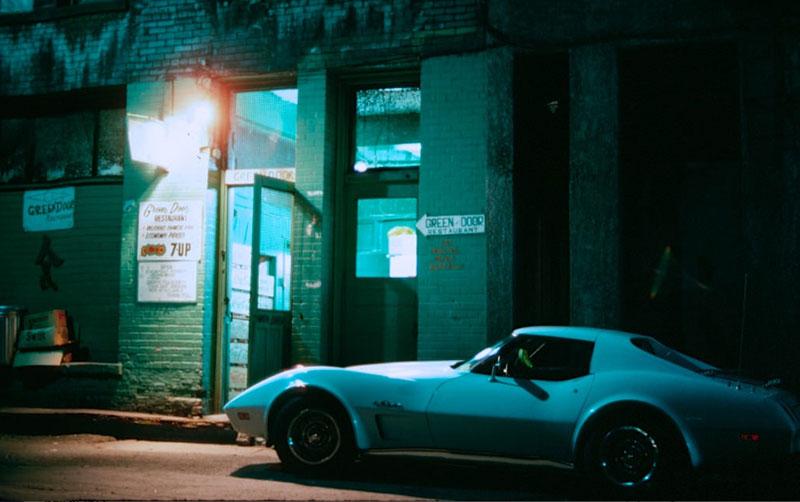 The Green Door restaurant in Market Alley, 1977. Photo by Al Harvey.