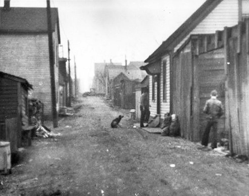 Hogan's Alley in 1937. Photo from the Vancouver Sun.