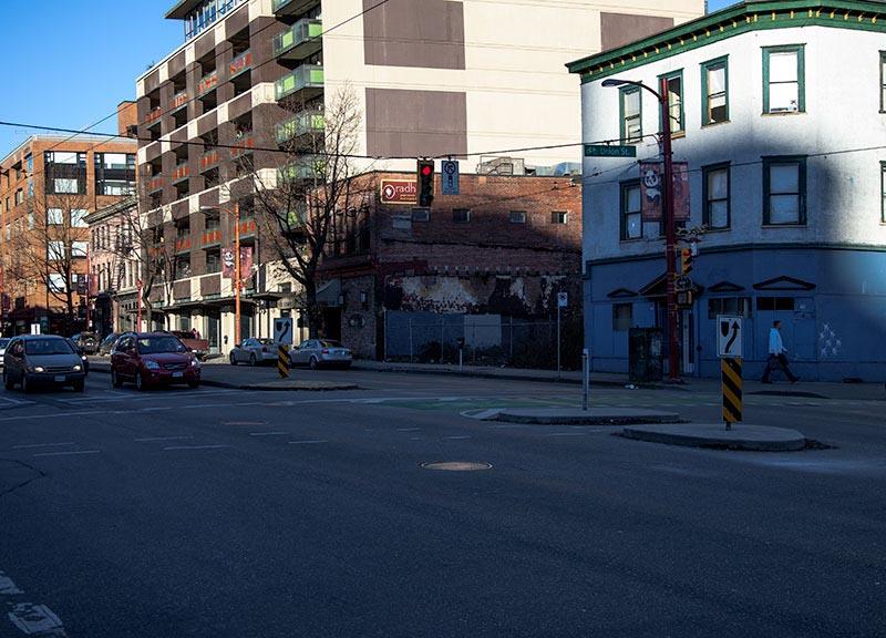 Eastside of the 700 block of Main Street in 2017.