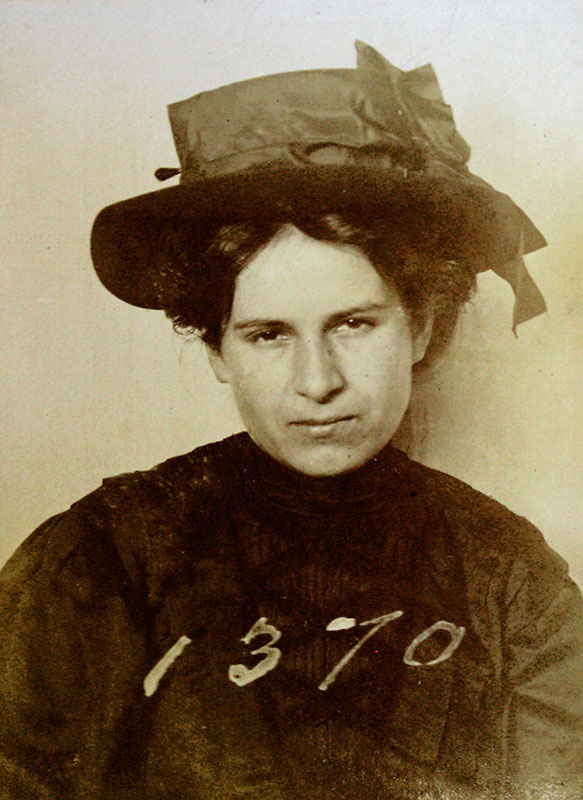 Rosie Dupuis was a prostitute working out of 23 Canton Alley when she was arrested in 1907 during the clean up of the sex trade from Chinatown. City of Vancouver Archives, VPD series #S202, Loc. 37-C-9.