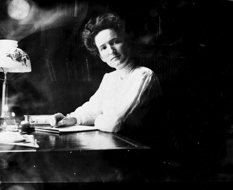 Temperance advocate and suffragist Nellie McClung in the 1910s, BC Archives #E-05182