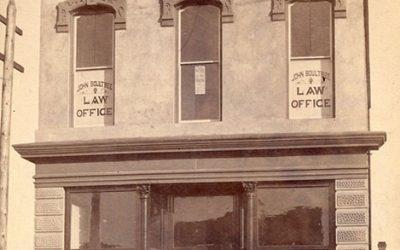 Fergusson Block, 200 Carrall Street, 1887. Photo by JA Brock, City of Vancouver Archives #Bu P80.