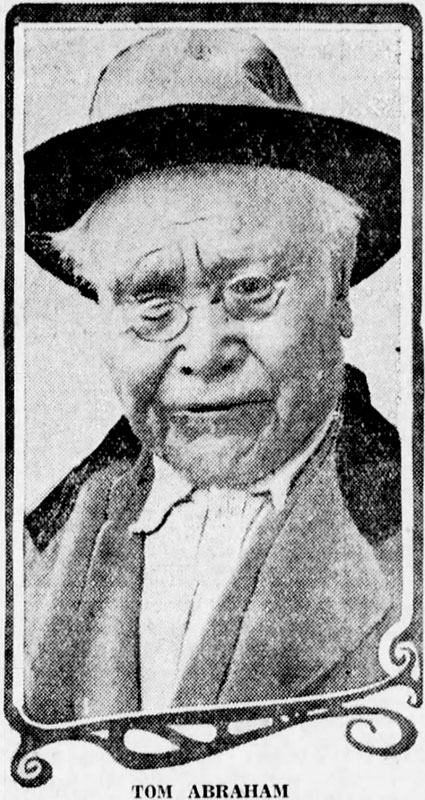 Tom Abraham, witness at the 1923 trial to evict residents of Stanley Park, Daily World, 6 November 1923.