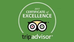 Trip Advisor 2017 Certificate of Excellence