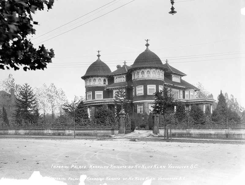 """Glen Brae Manor served as the KKK's """"Imperial Palace"""" in 1925. Photo by Stuart Thomson, City of Vancouver Archives #99-1495."""