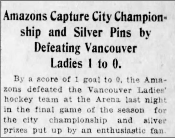 Amazons beat Vancouver Women's Team