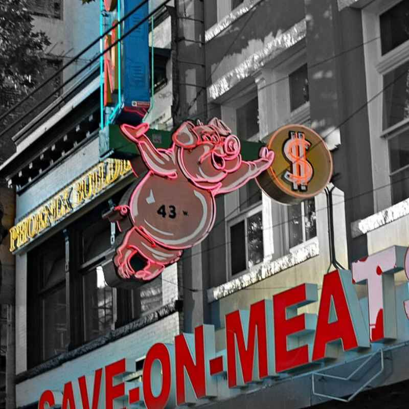 Save-On Meats in the Downtown Eastside. Photo by Mark Faviell via Flickr, Creative Commons licensed.