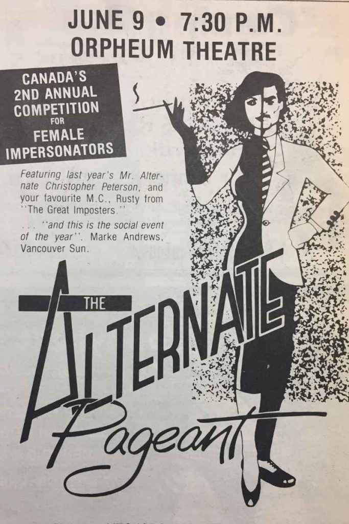 Alternate Pageant advertisement: Angles, 1984