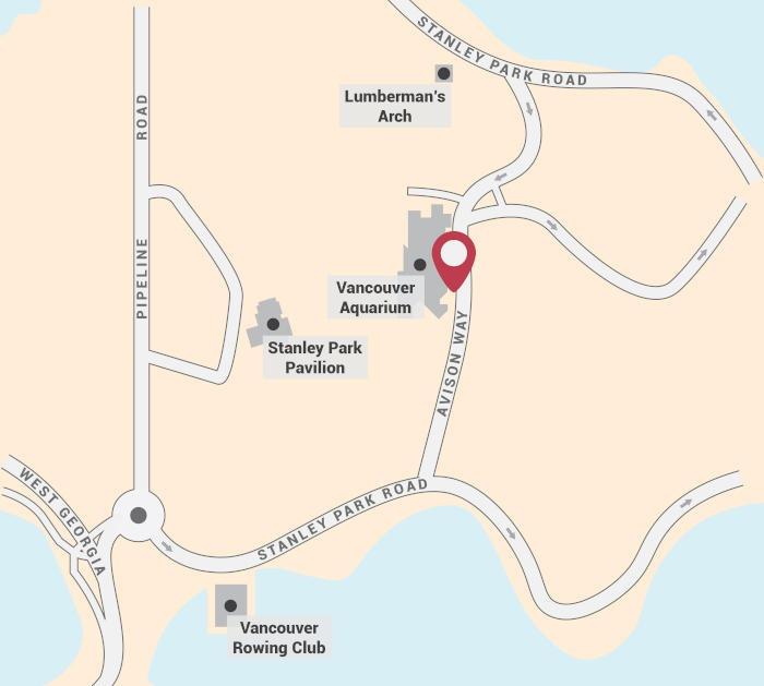 Dark Secrets of Stanley Park Walking Tour Start Point Map